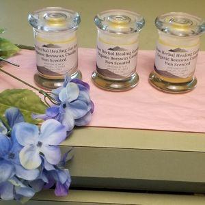 Beeswax Organic Candle  3 Pk